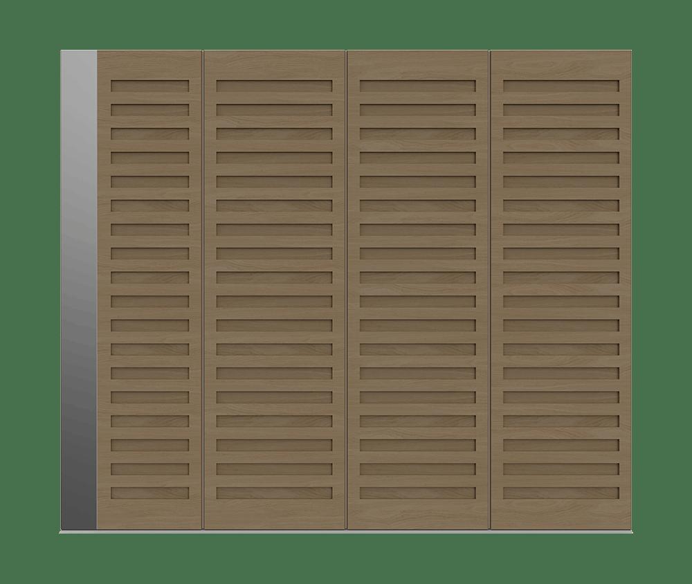 Natural Oak garage door - Como S by Deuren