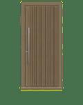 Natural Oak Single leaf front door - Piano by Deuren