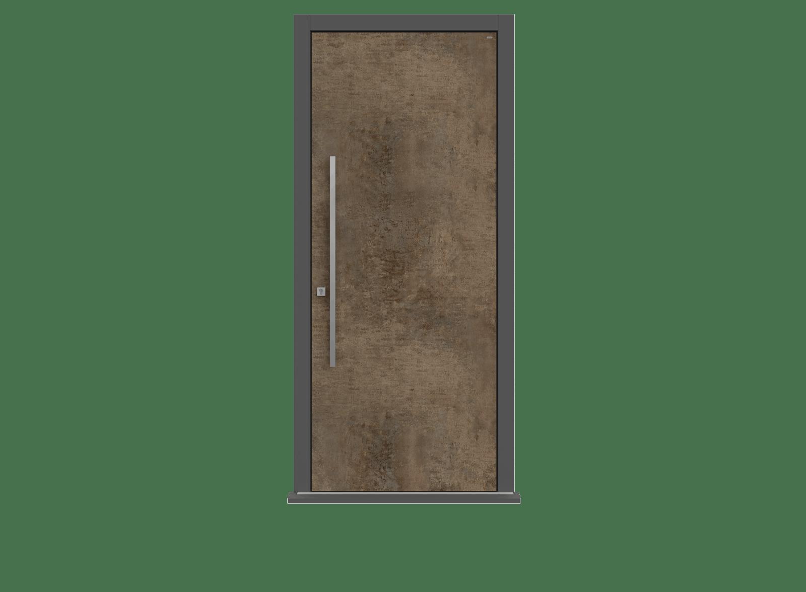 Patina Bronze Single leaf front door - Olivo by Deuren