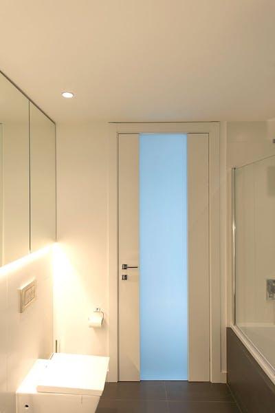 Bespoke Internal Door white Trem Glass