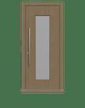 Natural Oak Single leaf front door - Vista by Deuren