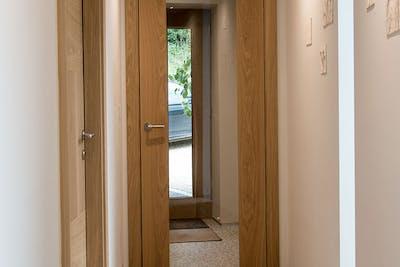 Bespoke Internal Door Natural Oak Trem Glass