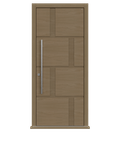 Natural Oak single leaf front door - Tegal by Deuren