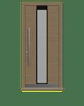 Natural Oak Single leaf front door - Pianura 3 by Deuren