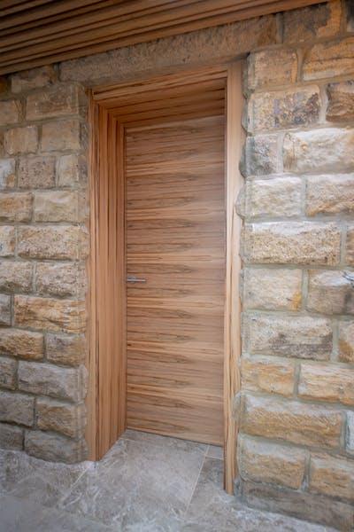 Bespoke Trem H Satin Walnut Internal Door