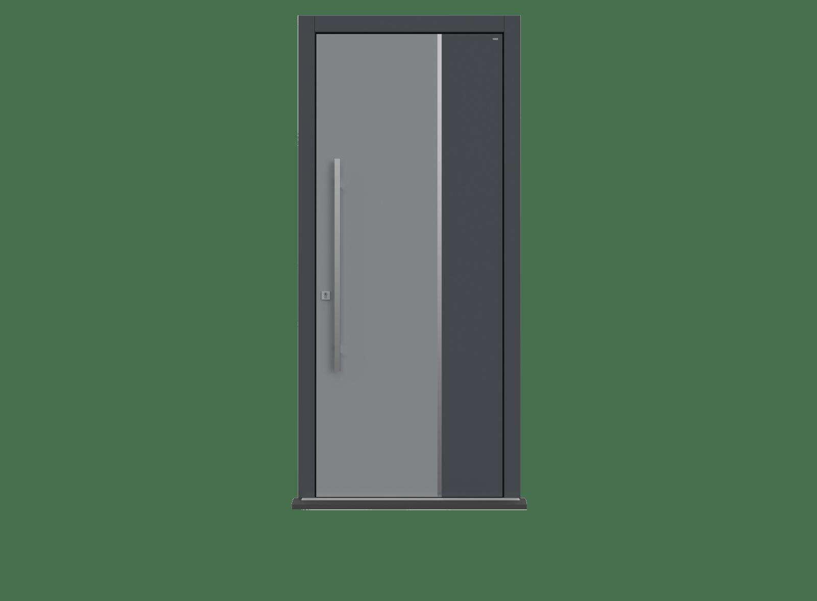 Railings Single leaf front door - Ness by Deuren