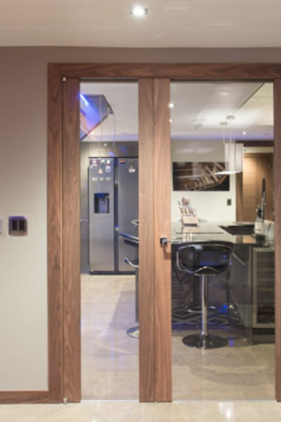 Bespoke Internal Gio Glass Door Double