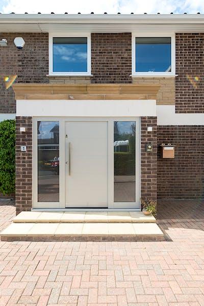 Modern Beige Ral Front Door Pianura 1