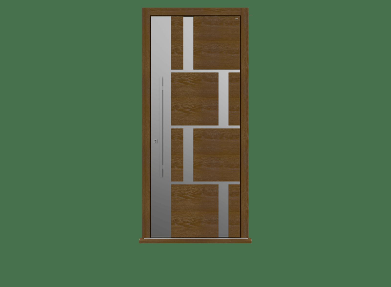 Dark Oak Single leaf front door - Tegal  SSI by Deuren