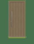 Natural Oak single leaf front door - Pichola V by Deuren