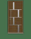 Dark Oak Single leaf front door - Tegal SI by Deuren