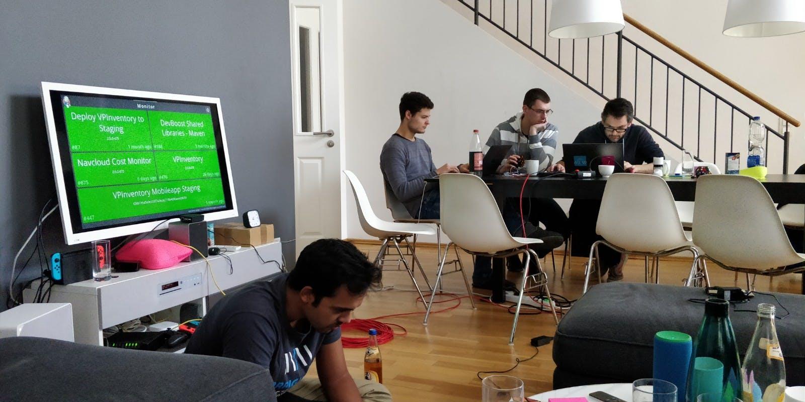Das DevBoost Team im DevCamp
