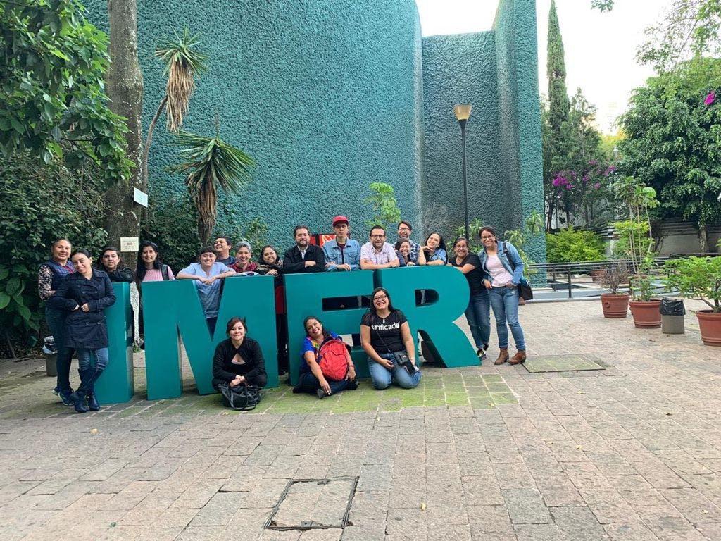 periodistas en oficinas del IMER en la Ciudad de Mexico