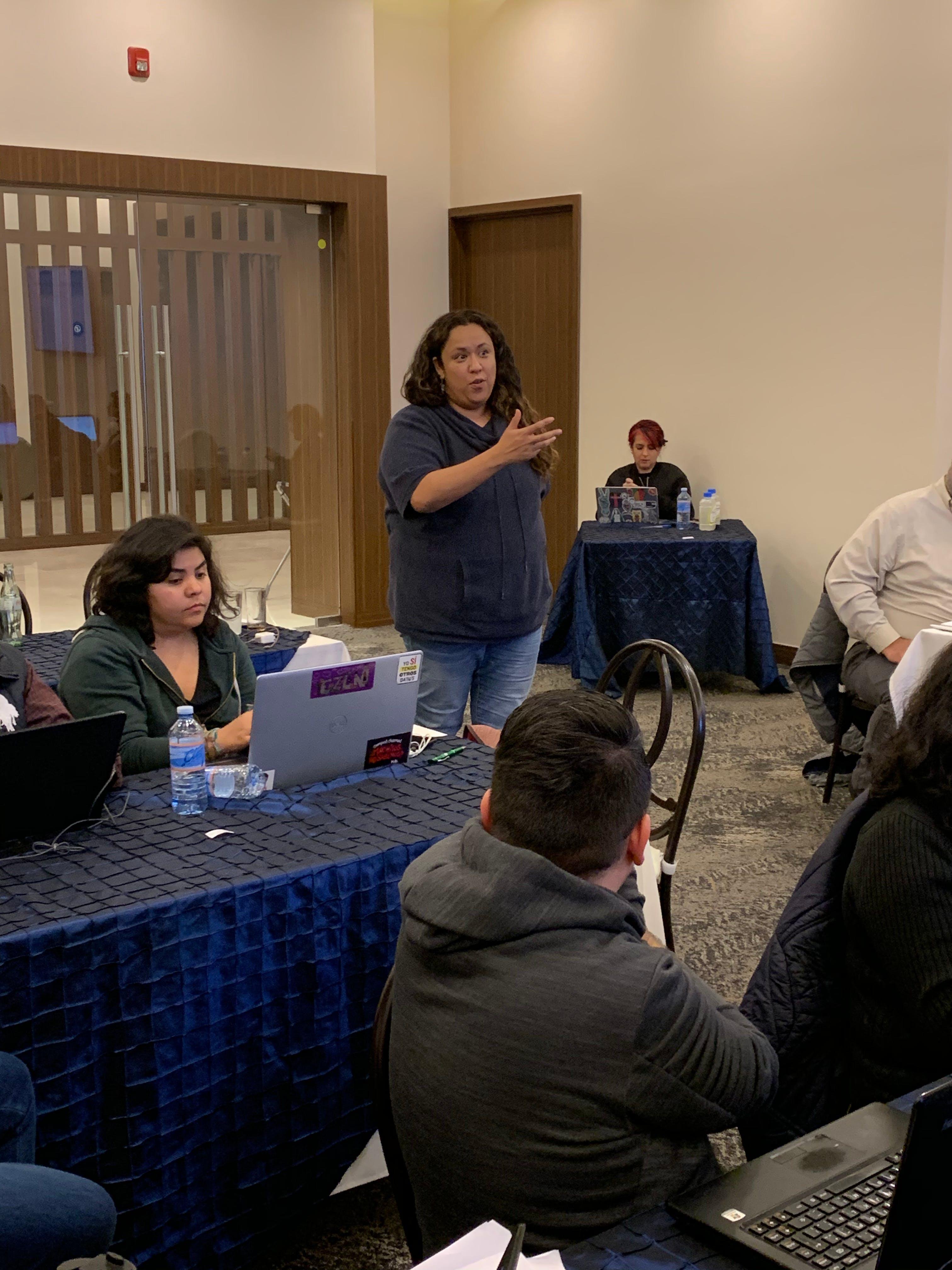 periodistas en taller de entrenamiento