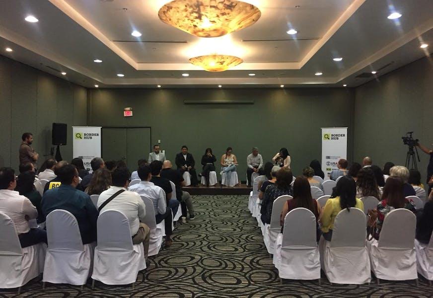Periodismo y sociedad civil contra la corrupción 2019, foros del Border Hub