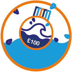 Swim22 £100 swimming badge