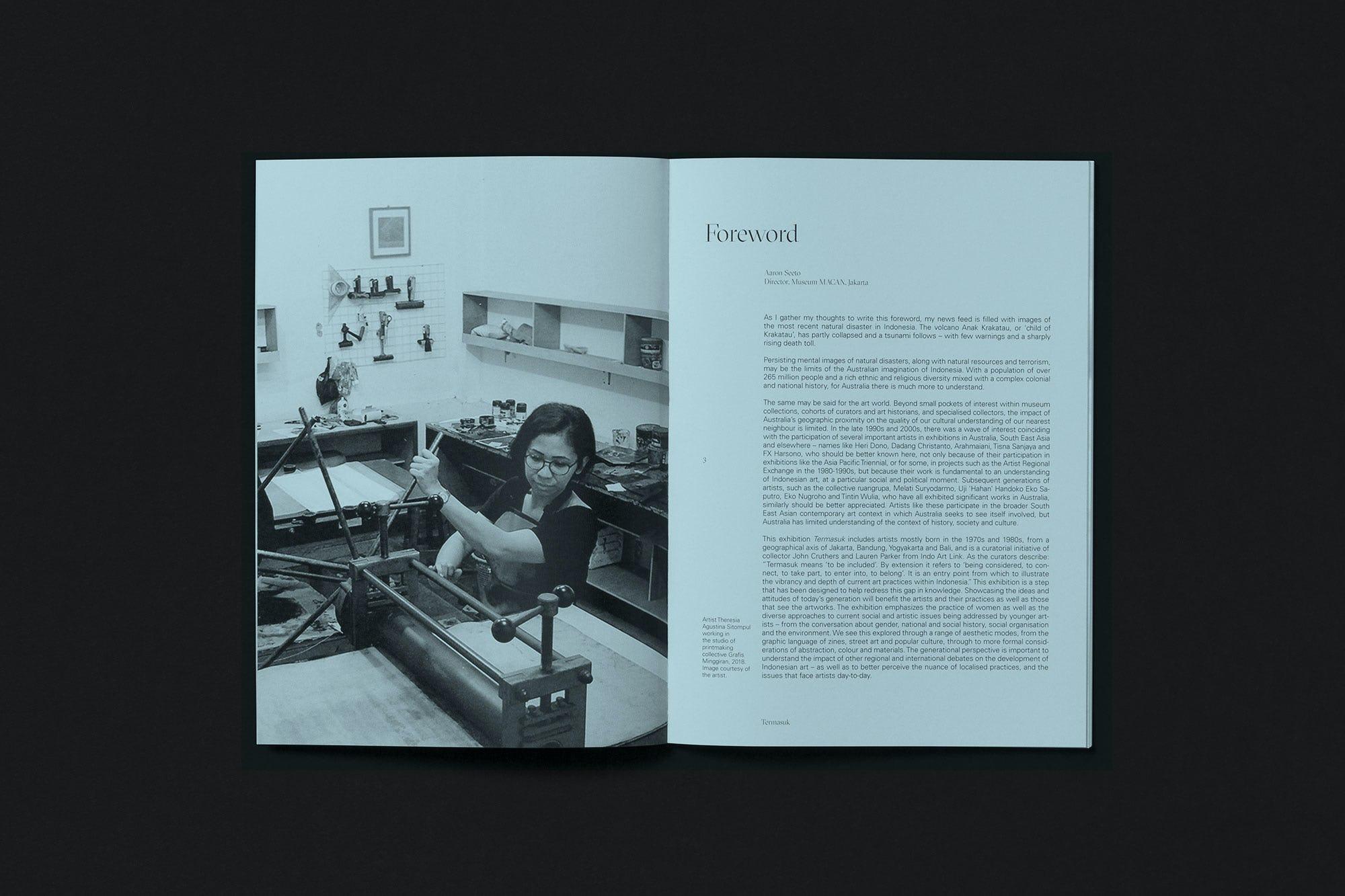 Spread from Termasuk catalogue