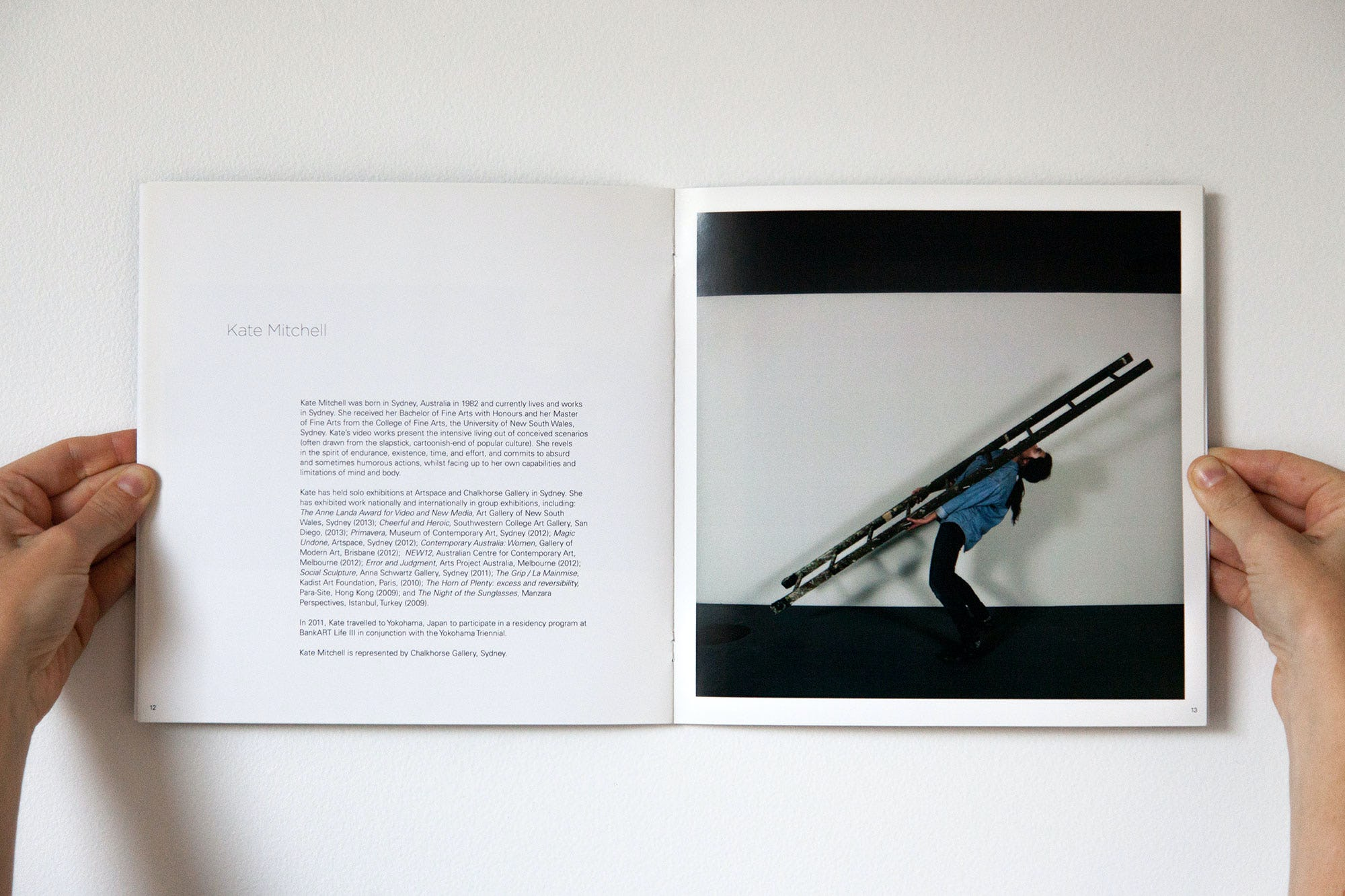 Spread from 7 Points exhibition catalogue