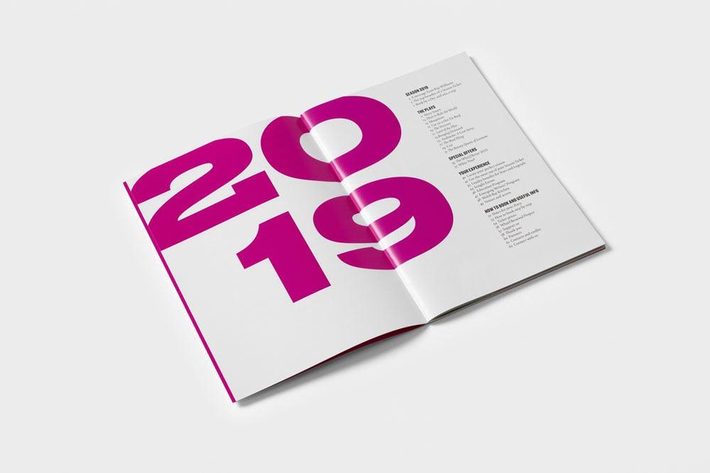 Spread from STC Season Brochure