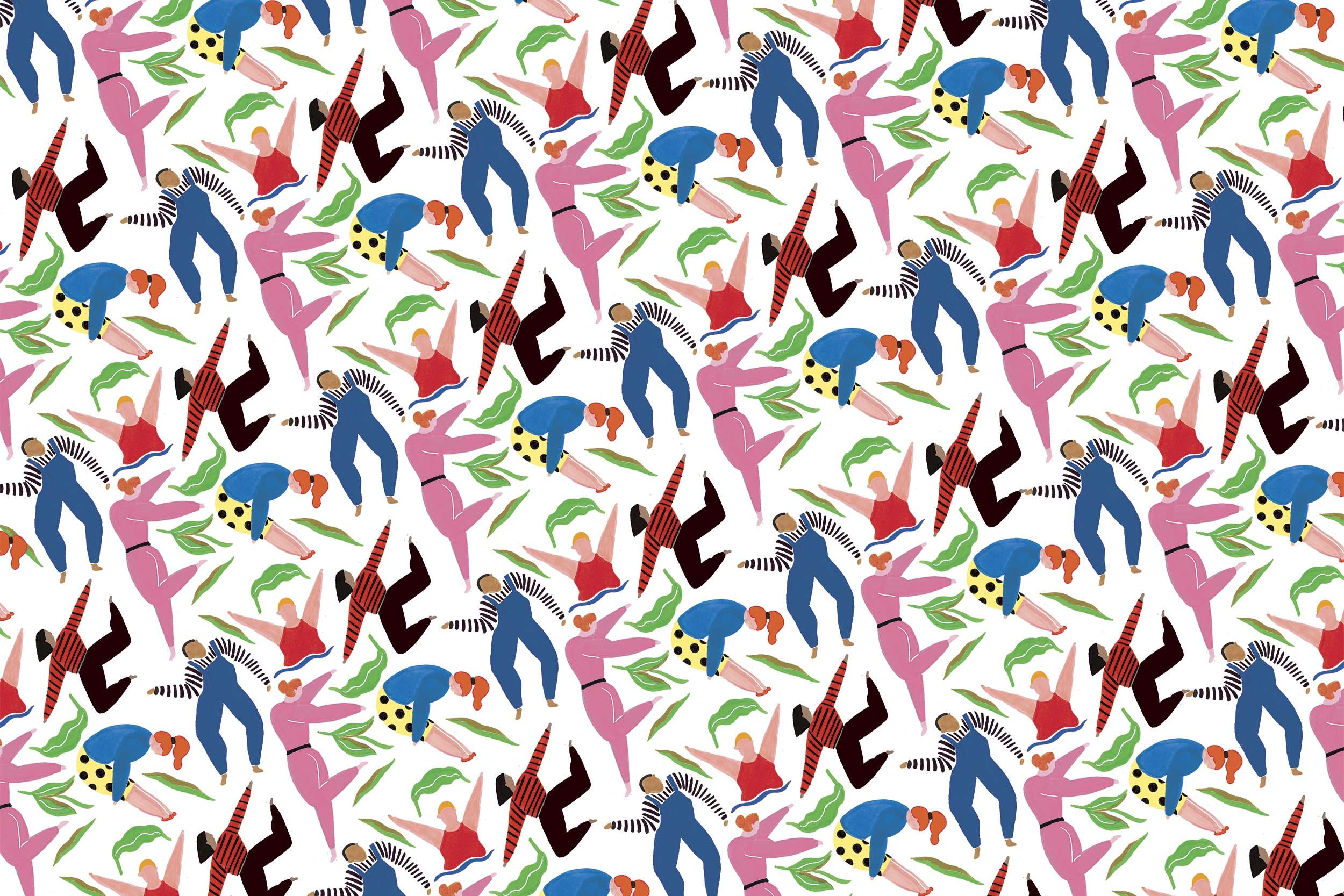 Repeating Scull pattern by Grace Lee