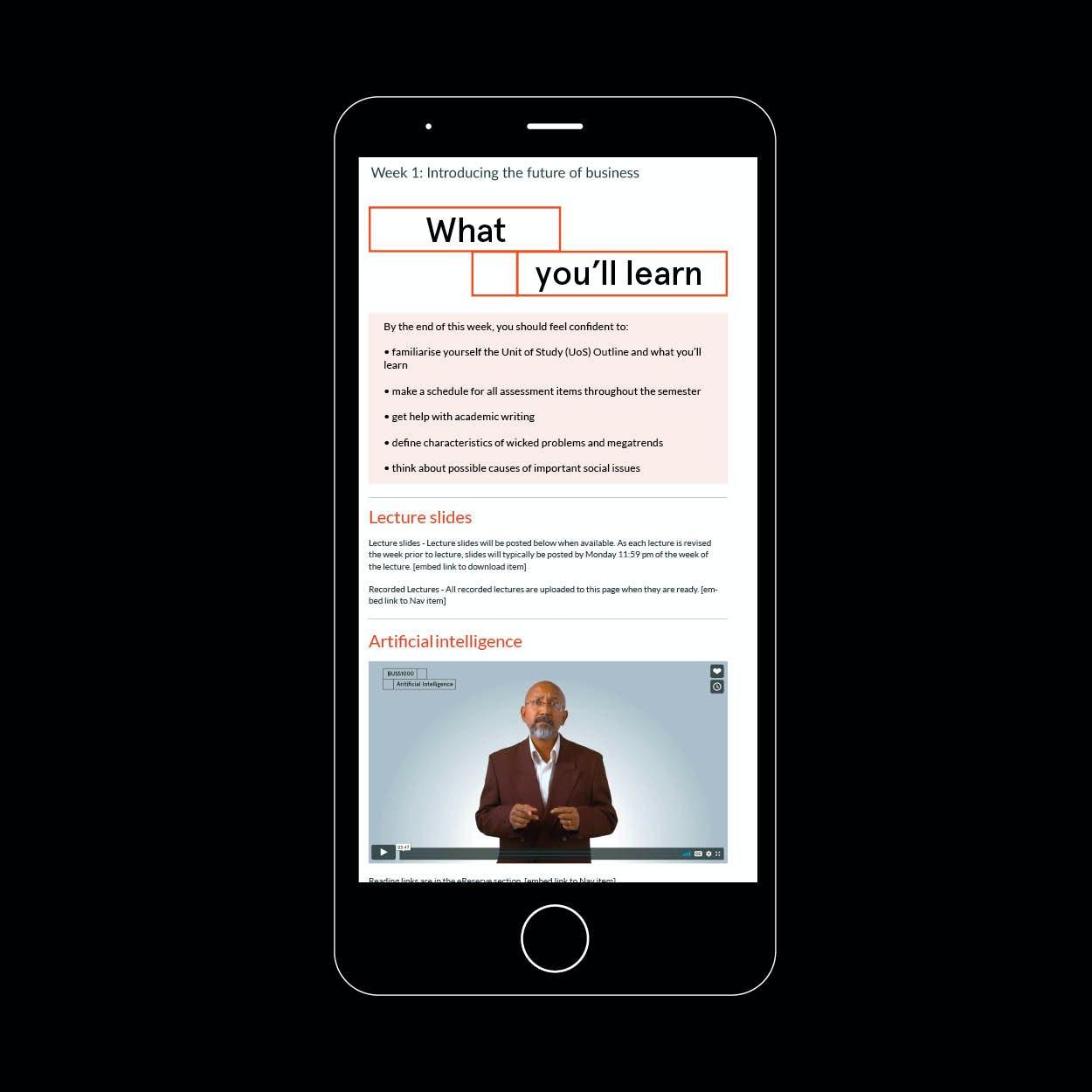 Screenshot of CLaS online learning portal