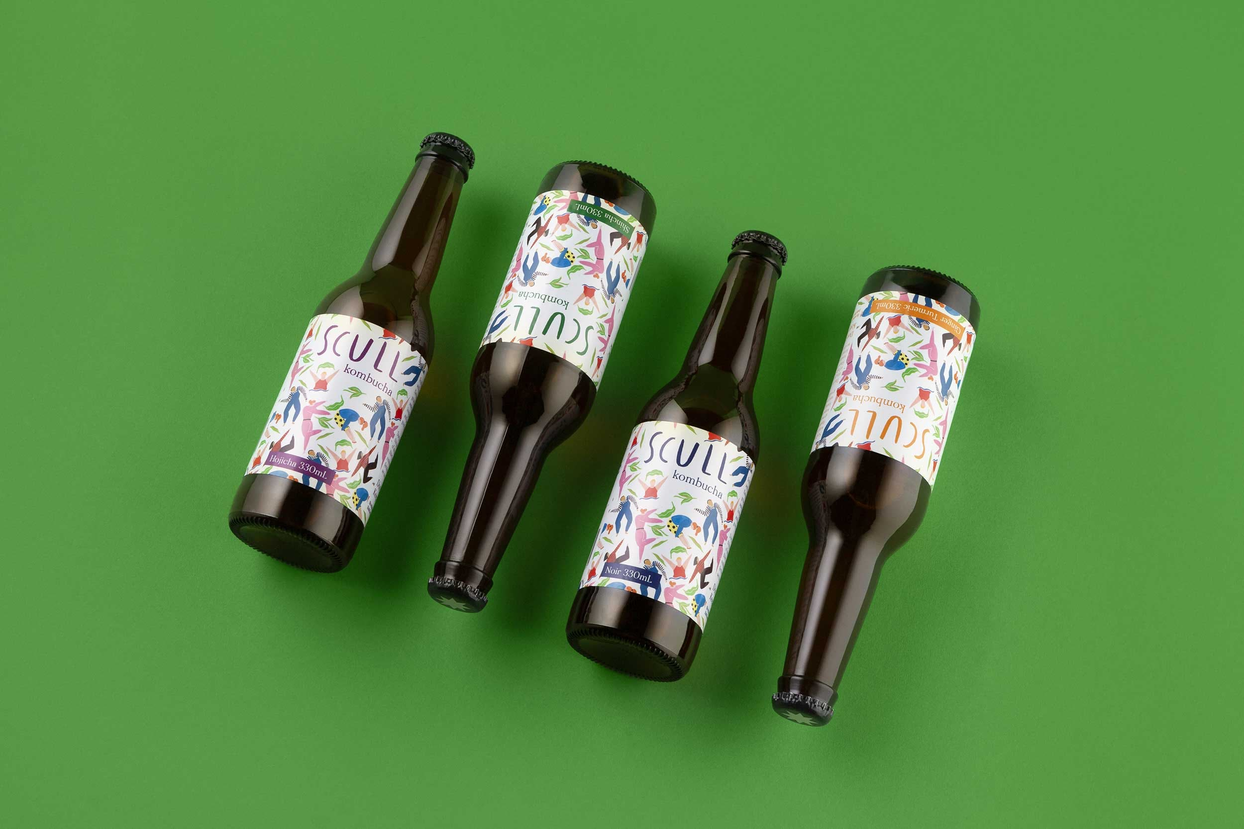 Product shot of Scull bottles