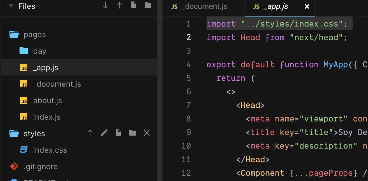 creando archivo _app.js