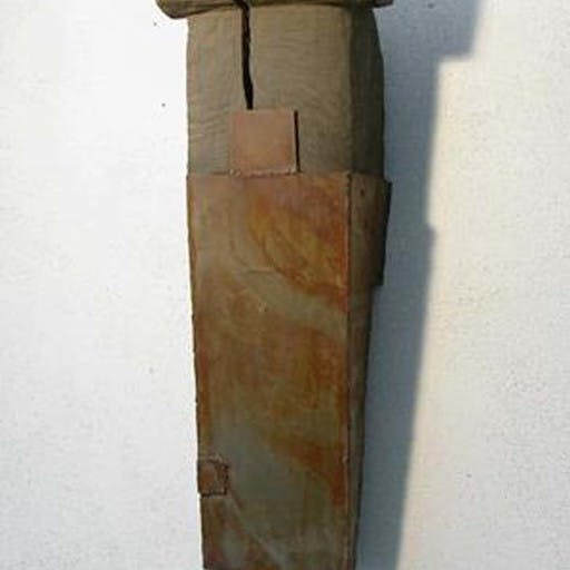 Kopffigur I, Holz und Stahl