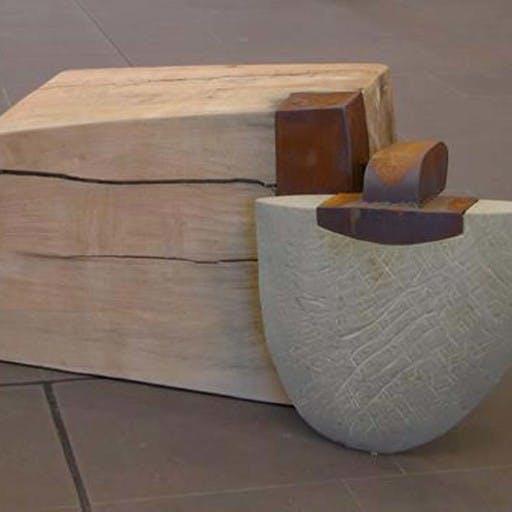 Figur, Holz, Stahl, Stein, Blei -in Privatbesitz-
