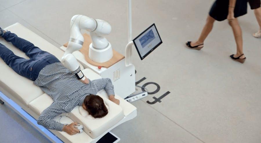 robot masseur événementiel
