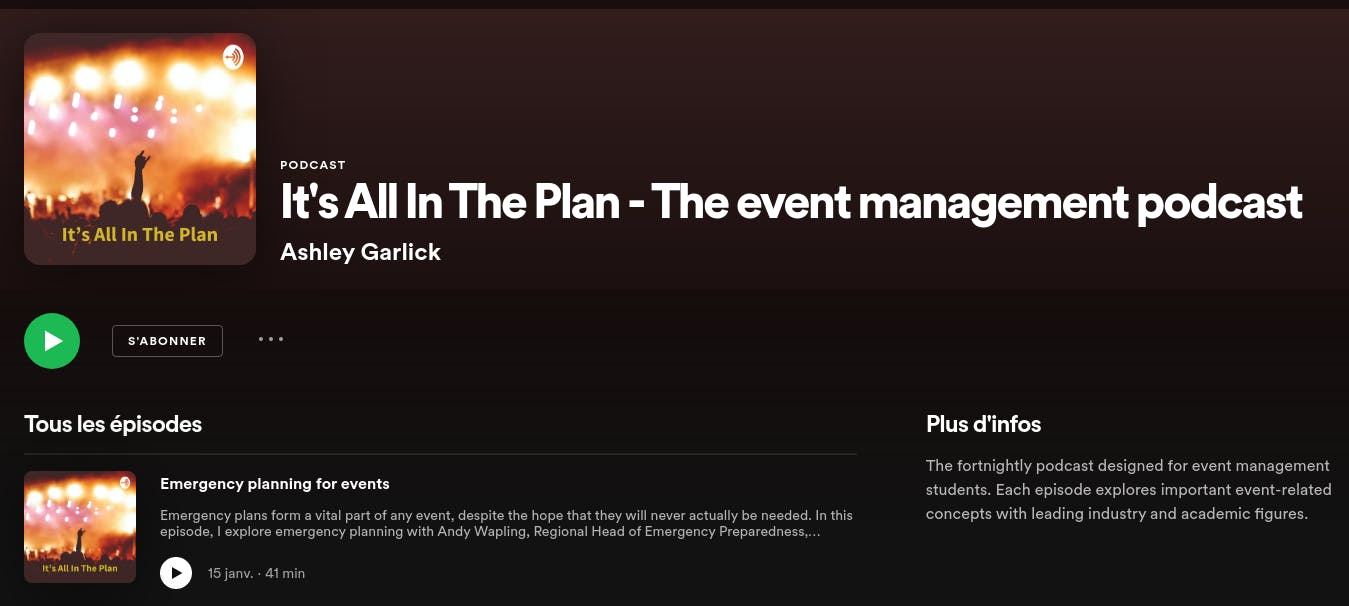 it's all in the plan - event management podcast