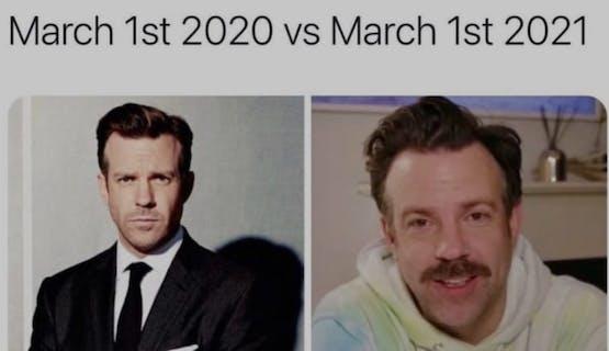 diferença entre 1o de Março de 2020 e 1o de Março de 2021