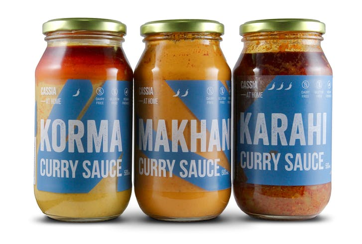 Cassia At Home's ready made curry sauces.