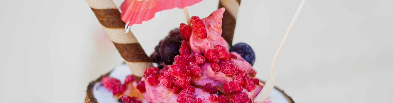 ice cream social coconut sundae