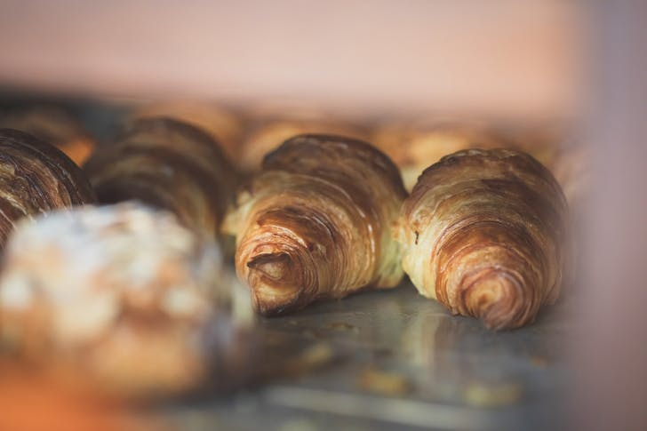 Fresh croissants from Amano