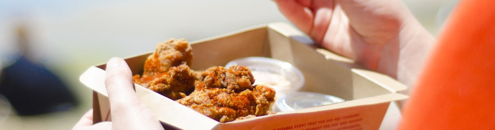 Fried chicken takeaway box from Mexico