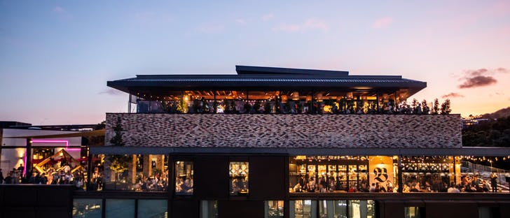 Enjoy 360 views of Newmarket from the rooftop restaurant.
