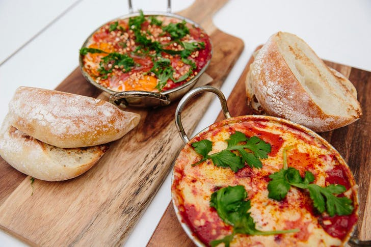 Baked Eggs with chorizo or buckwheat from Peel To Pip