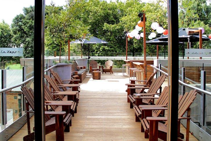 La Zeppa's iconic rooftop deck