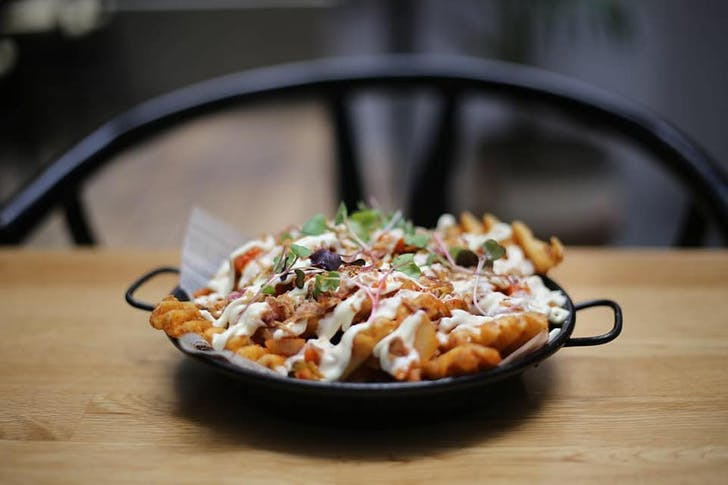 The Kimchi Project's loaded waffle fries