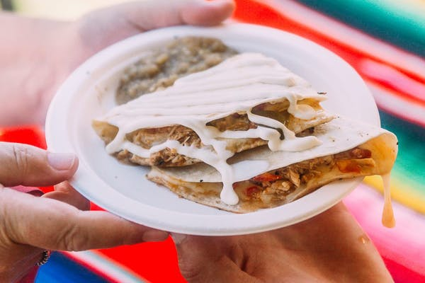 Quesadilla at food music festival
