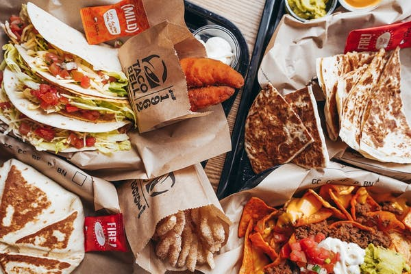 Taco Bell on a table