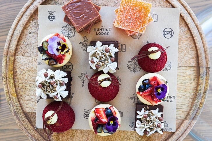 Expect gorgeous desserts like these in your Hunting Lodge Hamper.