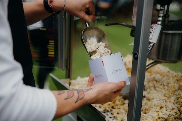 Peroni outdoor cinemas in Britomart