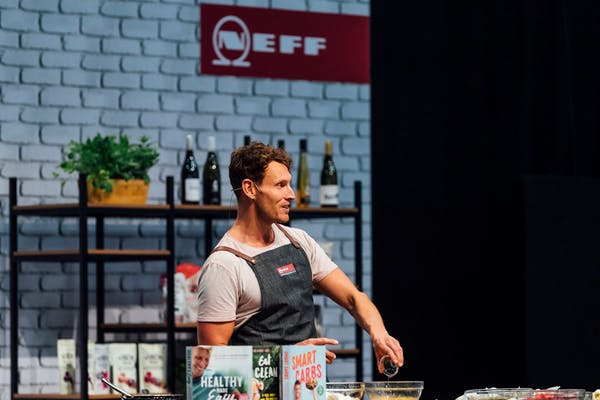 luke hines speaking at the 2019 auckland food show