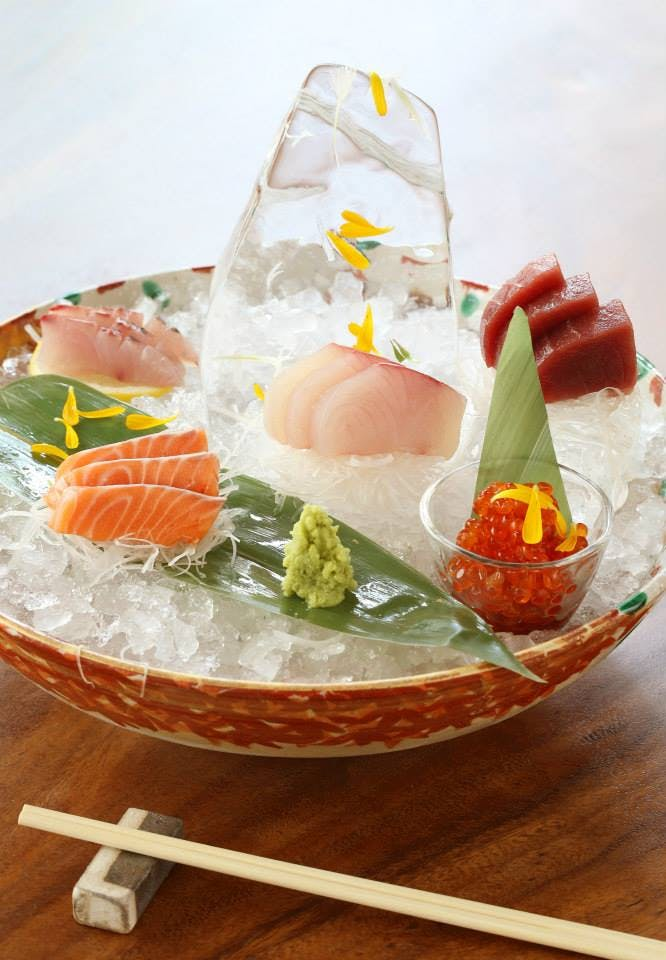 Sashimi selection from MASU