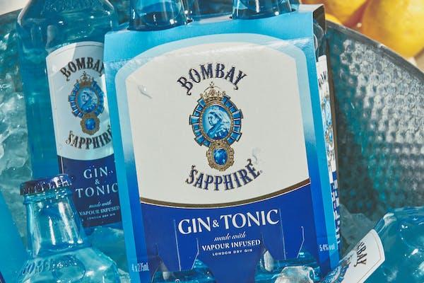 Bombay Sapphire's rtd gin & tonics with lemon
