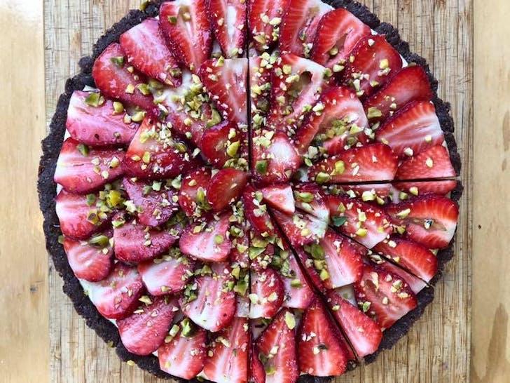 Lemon passionfruit tart from Sip Kitchen