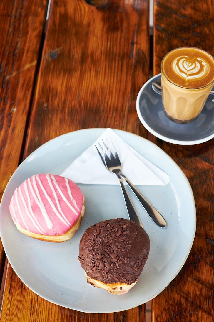 Crop Cafe's winning donuts and coffee combo