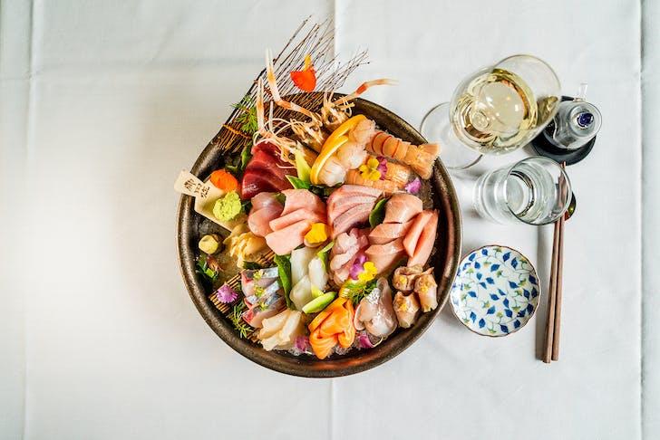 Cocoro's Sashimi Platter.